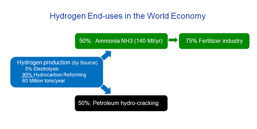Hydrogen End-uses in the World Economy